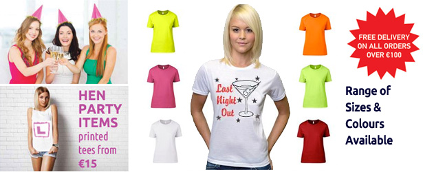 hen party tee shirts dublin